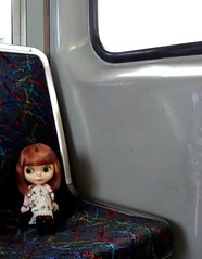 Percy riding on the red line