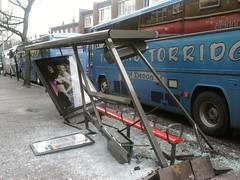 Bus Shelter Demolition, South Street, Exeter