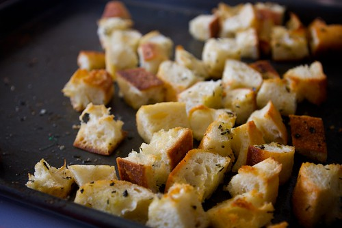 croutons are done!
