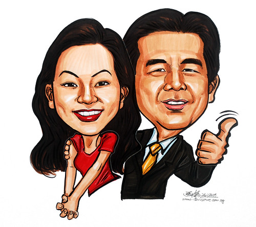 couple caricatures in colour 261209