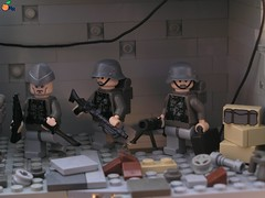 The Battle for Berlin scene (ORRANGE.) Tags: amazing lego general german hazel sniper ww2 soldiers armory orrange customs usarmy deutsche wehrmacht stahlhelm