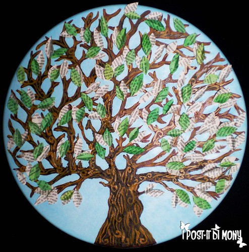 albero mixed media - mixed media tree