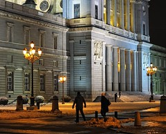 Curiosity on a cold night (aerferaer) Tags: madrid lighting people snow monument colors night garden lights luces spain photographer shadows gente cathedral streetlights monumento nieve columns catedral colores textures nocturna 1001nights farolas jardines sombras contrasts texturas fotgrafo sincity ornamentation contrastes catedraldelaalmudena columnas fachadas greatphoto iluminacin fronts mostexcellent ornamentacin nikkor50mmf18ais fineartphotos callebailn platinumheartaward theperfectphotographer flickrestrellas madridhistrico thebeautifulimagetop colorsofthesoul goldenart beautifulartisticphotography daarklands 0to9faves fotowow urbandesignoffice historicmadrid 1001nightsmagiccity artnetcontemporaryartists freedomgexcellence 1001110640nef rhapsodicpoemsofhomerodysseus excelenteforma