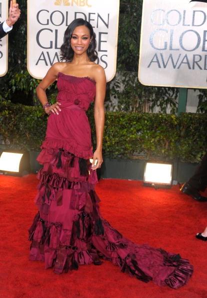 Golden Globes 2010 Zoe Saldana