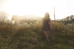 (yyellowbird) Tags: ohio sun house selfportrait abandoned girl glare toledo cari old97slyrics