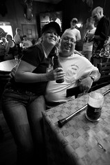 Progressive Hog Ride 8.1.2009 (Notley) Tags: city blackandwhite monochrome architecture bar lights stlouis harley tavern hog 2009 stlouismissouri 10thavenue notley harleyriders hogride notleyhawkins missouriphotography httpwwwnotleyhawkinscom notleyhawkinsphotography progressiveride