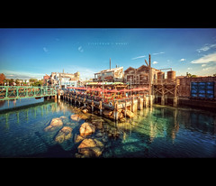 Fisherman's Wharf (isayx3) Tags: california old nikon angle disneyland wide sigma disney adventure fishermanswharf dca f28 hdr d3 exposures 14mm plainjoe isayx3