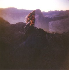 (echerries) Tags: ocean sanfrancisco california city bridge summer cinema love film girl smile field movie evening dance holga theatre doubleexposure marin cliffs scan goldengate orinda kodak120 caetyk