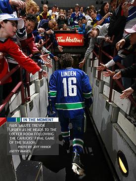 Trevor Linden's Final Skate