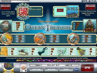 free Ocean Treasure slot mini symbol