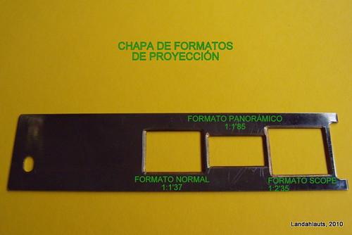 Chapa de formatos de proyeccion
