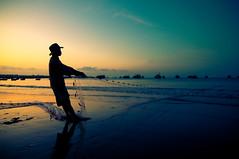 (Flash Parker) Tags: morning fish silhouette sunrise fisherman sand surf fishermen zoom calm vietnam beaches catch crabs nets muine tamron1750mmf28 onephotoweeklycontest flashparkerphotography vietnam268582 muineharbor
