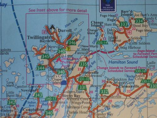 Twillingate map