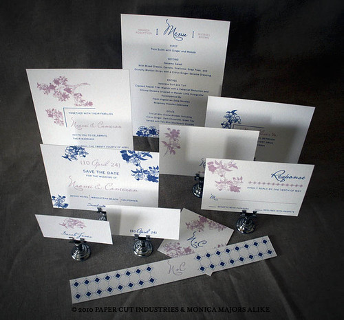 Blossoms Wedding Invitations Stationery Suite