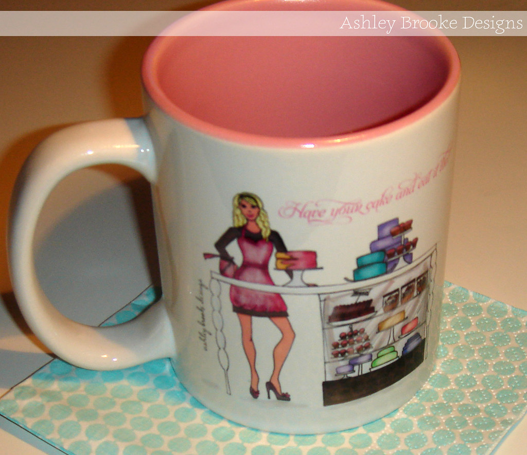 Ashley brooke designs custom designed coffee mugs for Handmade mug designs