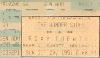 Wonder Stuff, Roxy