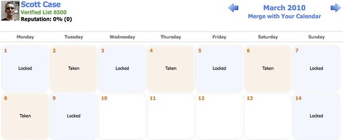 Safe Swaps Calendar