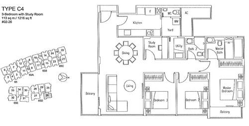 3-Bedroom FP