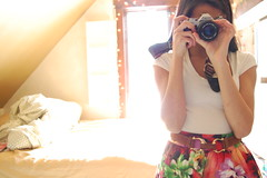 (mia sara.) Tags: lighting camera flowers sun film canon vintage out high nikon sara bokeh skirt explore mia strap straight vneck waisted d40 sooc straightoutofcamera explored161
