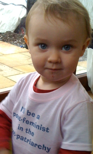 The Feaster in his I'll be a post-feminist in the post-patriarchy T-shirt