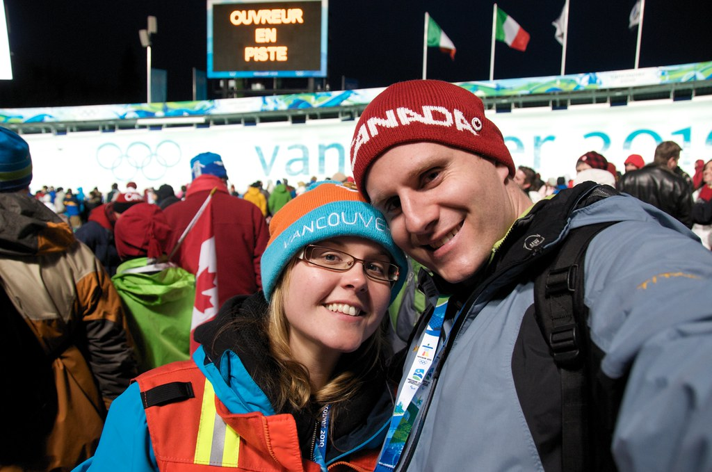 Dorothy and I at Women's Bobsleigh Final