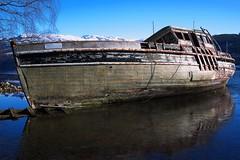 Scallop Boat, Inchnacardnoch Bay (BrianReid) Tags: