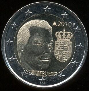 2 Euro Luxemburgsko 2010