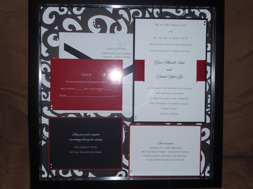 Wedding Invite shadow box