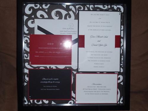 Wedding Invite shadow box