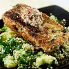 Crispy Herb-Crusted Salmon with Pickled Mustard Sauce
