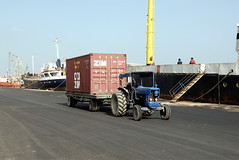 TRUCKING IN CYPRUS (Claude  BARUTEL) Tags: sea truck turkey island boat mediterranean harbour transport cyprus partition divided trucking containers famagusta