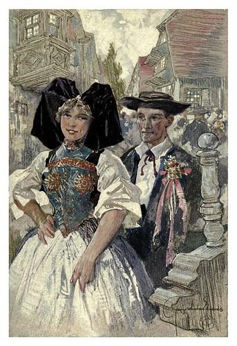 008-Alsacia-Lorraine-Los novios-Alsace-Lorraine-1918- Edwards George Wharton