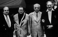 Minoo Bhandara with Senior Minister Aslam Khattak and Raza Kuli Khattak (Doc Kazi) Tags: pakistan parsi minoo bapsisidhwa bapsi goshi kandawalla minoobhandara