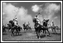 Warriors of Dust - Guerriers de la poussire (Rachid Naim) Tags: red sky horse game art museum race cheval fire war gun artistic folklore horsemen powder muse morocco maroc fantasia arabe guns cavalier safi steed guerre poudre feu barbe moroccan rachid chevaux   selle horseman artistique barbarian naim   marocain    fusils baroud equestre asfi     talon              tbourida      mousems