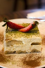 Green Tea Tiramisu (dbites) Tags: dessert strawberry tiramisu matcha greentea greenteatiramisu