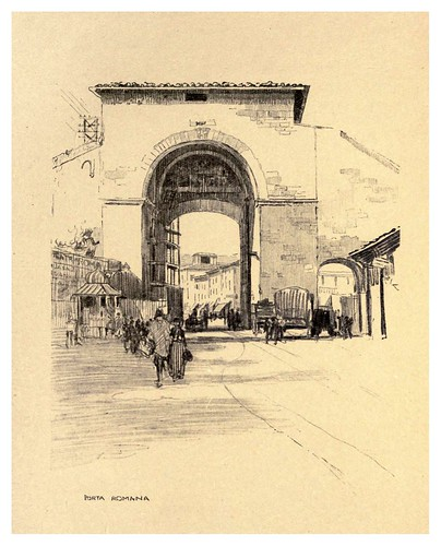 013-Puerta Romana-Florence  a sketch book (1914)- Richards Fred