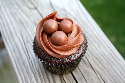 SMS Chocolate Malted Cupcakes