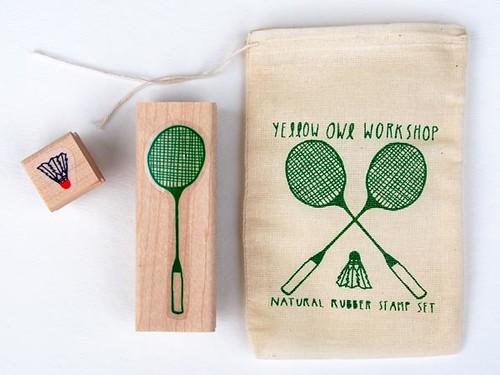 badminton stamp set