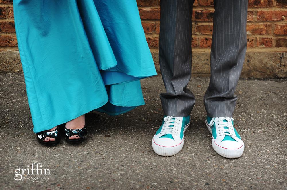 Wisconsin wedding photographer wedding shoe shot.