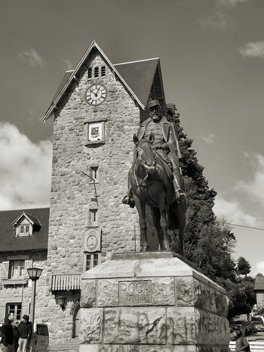 Statue of Julio Argentino Roca, Centro Cívico, Bariloche, Argentina by katiealley on Flickr