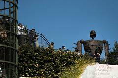 paying homage (werxj) Tags: anime japan museum kids children soldier tokyo robot machine queue ghibli mitaka visitors laputa ghiblimuseum