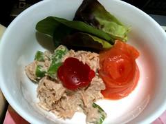 燻鮭鮪沙拉(金瓜鮪沙拉+切片燻鮭魚+時蔬)