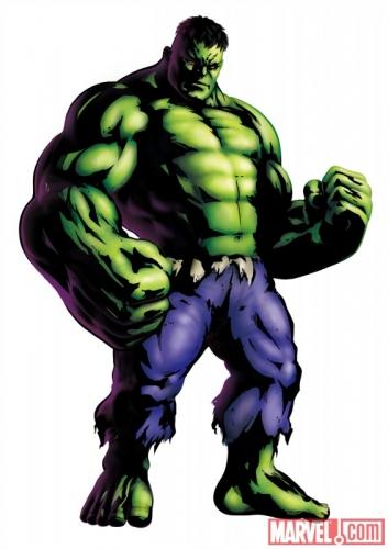 Marvel vs Capcom 3 Fate of Two Worlds Hulk Promo Art