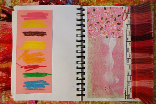 Pink Notebook: crayon marks