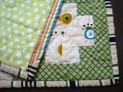 Steph stroller quilt detail