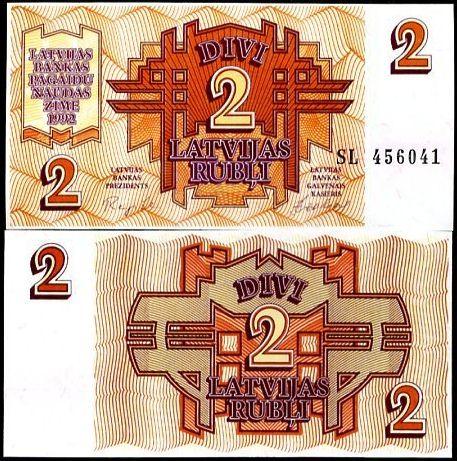 2 Ruble Lotyšsko 1992, P36