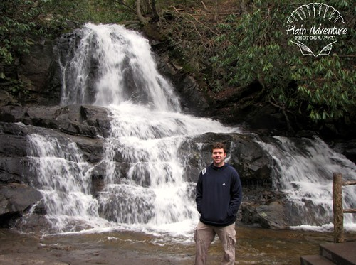 Kenny in front of Laurel Falls2 watermark