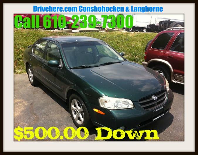 Drivehere.com 2000 Nissan Maxima $500.00 Down Drivehere.com Conshohocken PA