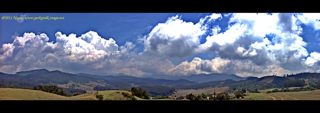 Panoramic view from the 9th mile shooting spot, Ooty (HDR)