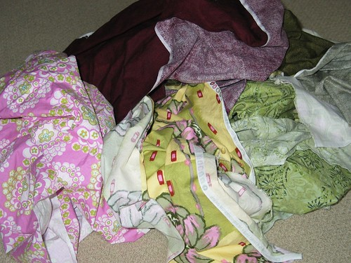 mystery fabric pile